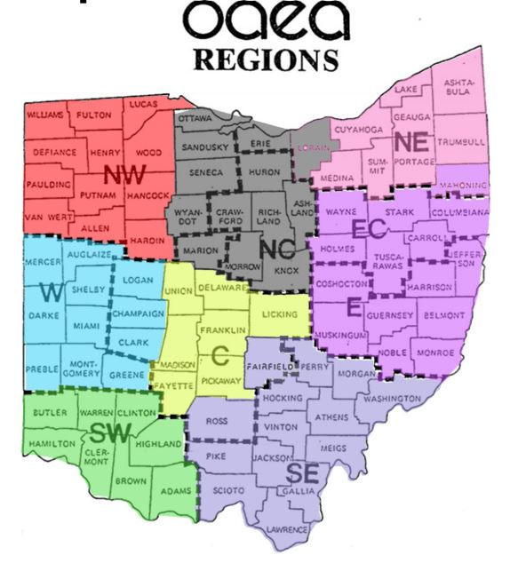 OAEA Region Map