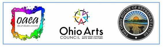 OAEA, Ohio Arts Council, Ohio House of Representatives logos